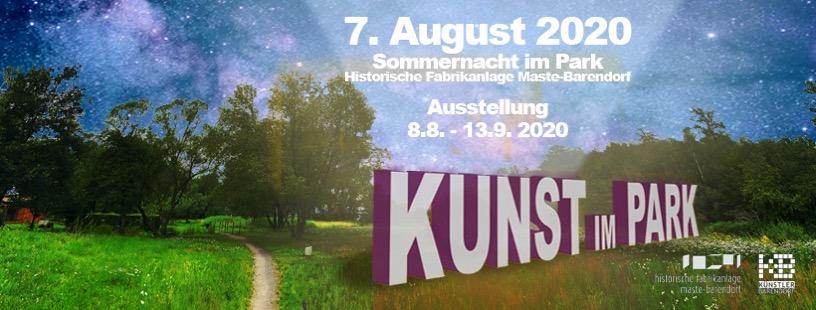 Plakat Kunst im Park 2020
